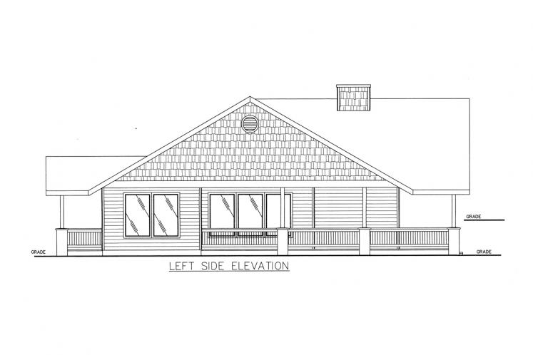 Country House Plan -  71439 - Left Exterior