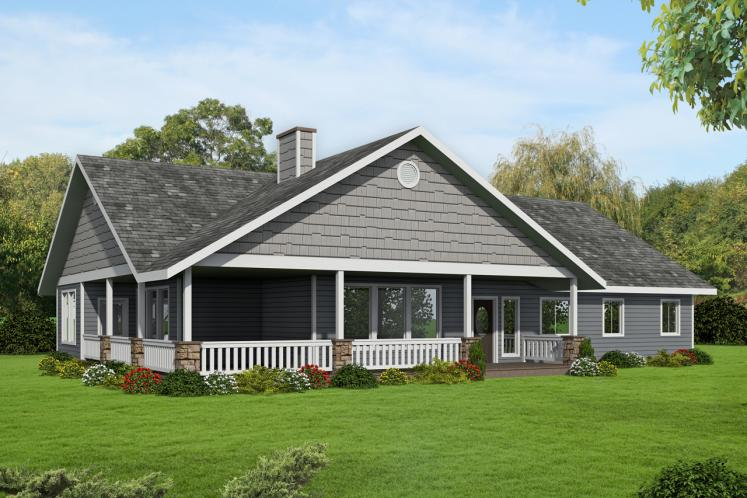 Country House Plan -  71439 - Front Exterior