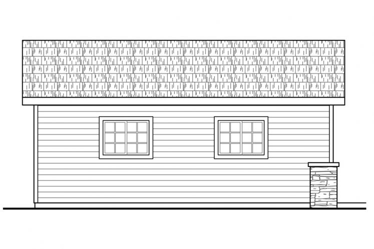 Cottage Garage Plan - Garage 71452 - Left Exterior