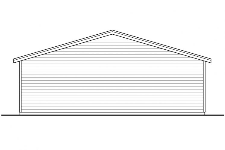 Traditional Garage Plan - Garage 71452 - Rear Exterior