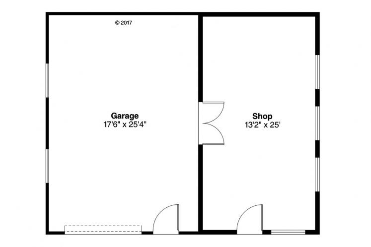 Cottage Garage Plan - Garage 71452 - 1st Floor Plan