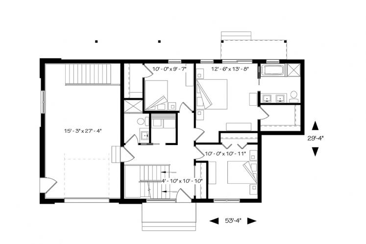 Modern House Plan - Oslo 71456 - 1st Floor Plan