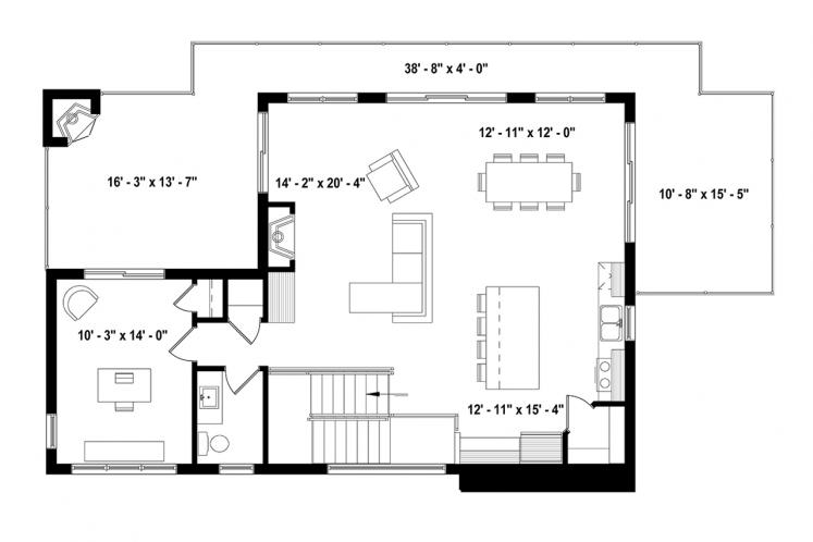 Country House Plan - Oslo 71456 - 2nd Floor Plan