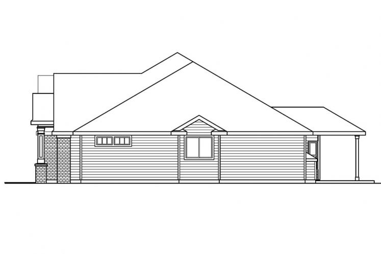 Traditional House Plan - Parkcrest 71479 - Right Exterior