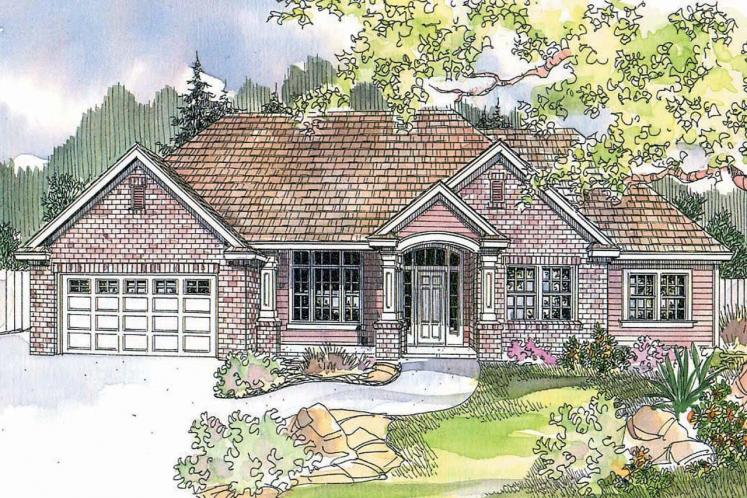 Traditional House Plan - Parkcrest 71479 - Front Exterior