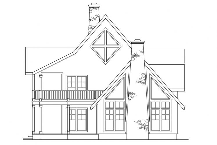 Lodge Style House Plan - Avondale 71516 - Right Exterior
