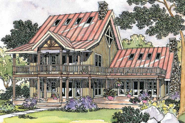 Lodge Style House Plan - Avondale 71516 - Front Exterior
