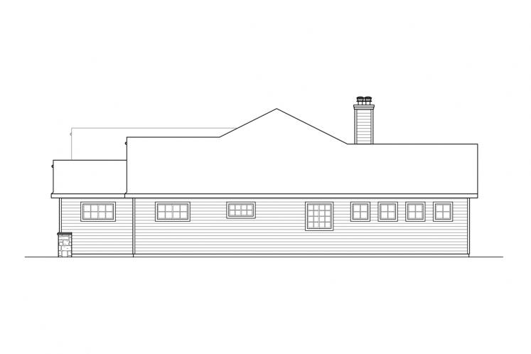 Ranch House Plan - Bramblewood 71560 - Right Exterior