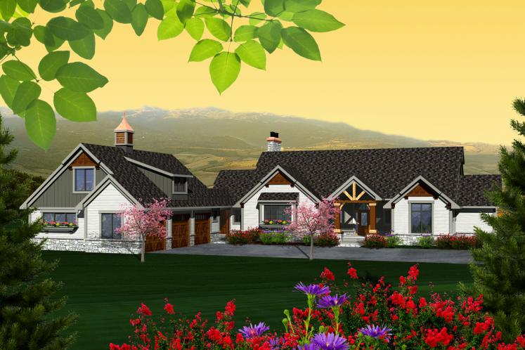 Craftsman House Plan -  71585 - Front Exterior
