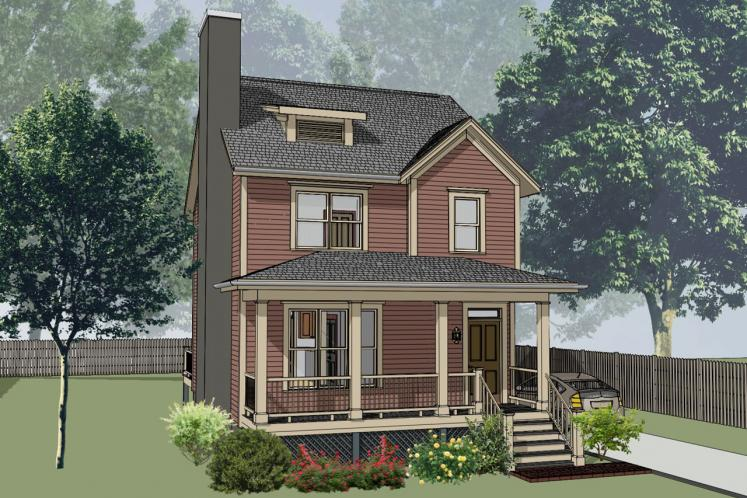 Country House Plan -  71608 - Front Exterior