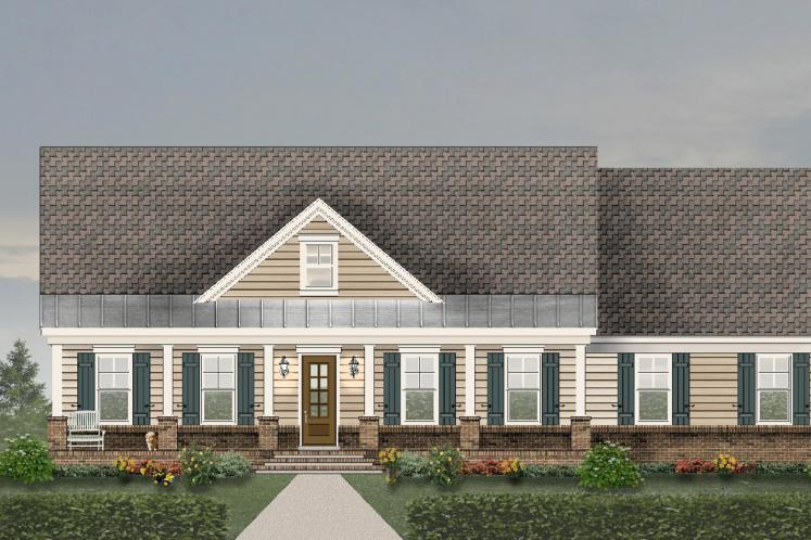 Traditional House Plan -  71681 - Front Exterior