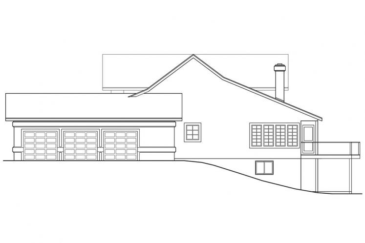 Southwest House Plan - Artesia 71710 - Right Exterior