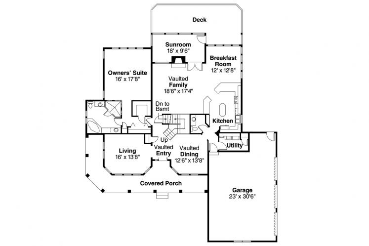 Contemporary House Plan - Artesia 71710 - 1st Floor Plan