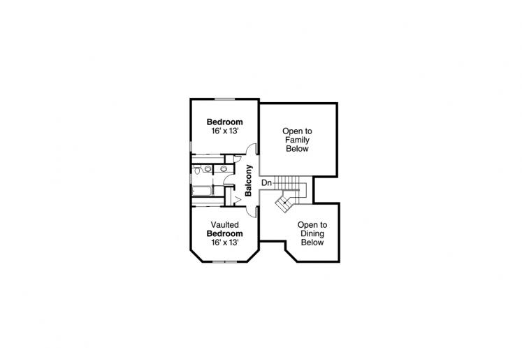 Mediterranean House Plan - Artesia 71710 - 2nd Floor Plan