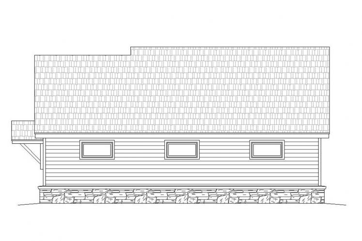 Colonial Garage Plan -  71762 - Rear Exterior