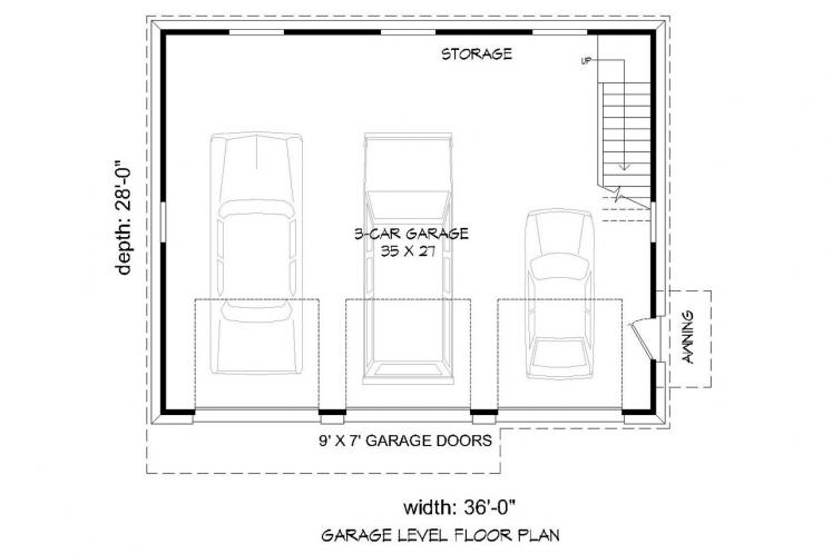 Country Garage Plan -  71762 - 1st Floor Plan