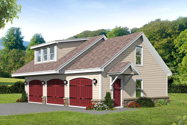 Country Garage Plan -  71762 - Front Exterior