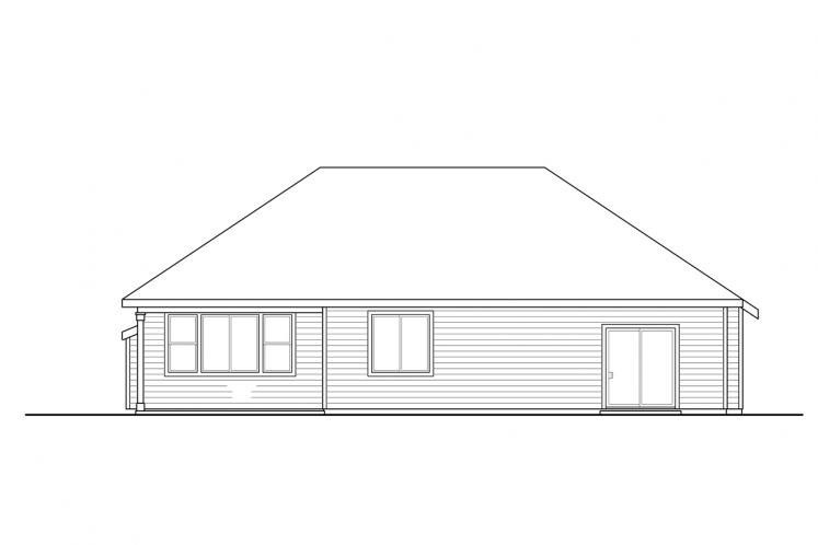 Traditional House Plan - Stowe 71809 - Rear Exterior