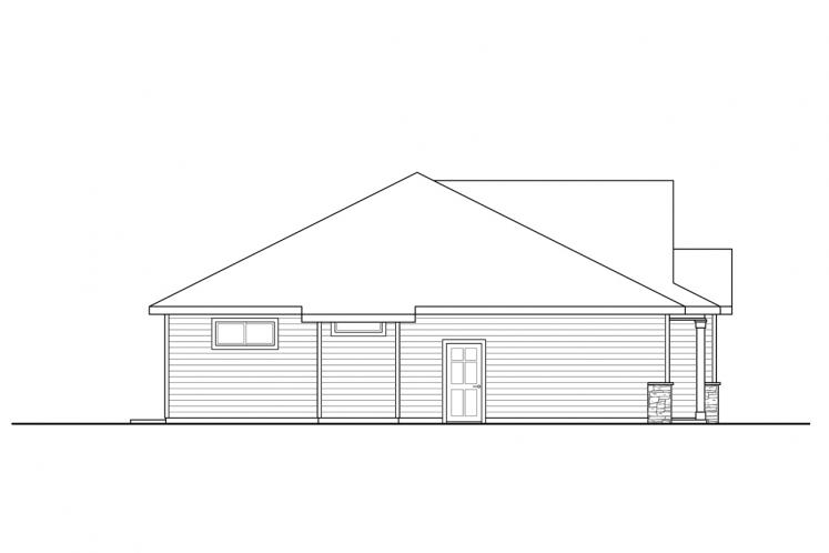 Ranch House Plan - Stowe 71809 - Left Exterior