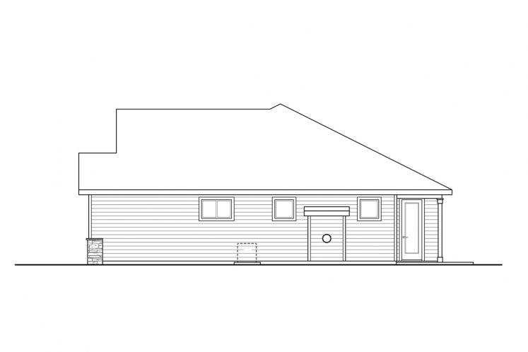 Traditional House Plan - Stowe 71809 - Right Exterior