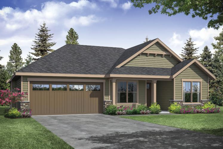 Ranch House Plan - Stowe 71809 - Front Exterior