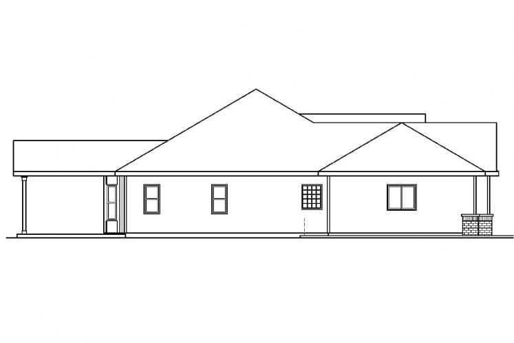 Traditional House Plan - Chadbryne 71826 - Left Exterior