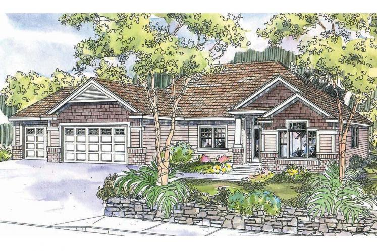 Ranch House Plan - Chadbryne 71826 - Front Exterior
