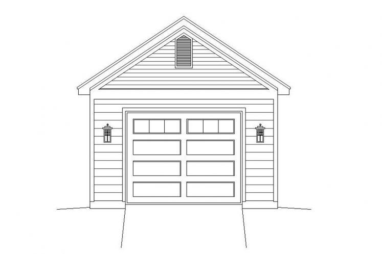 Traditional Garage Plan -  71847 - Front Exterior