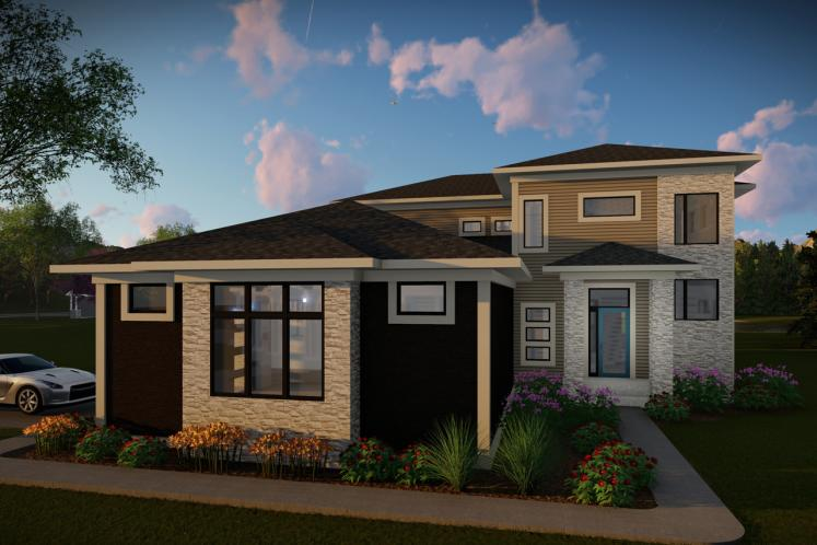 Contemporary House Plan -  71880 - Front Exterior
