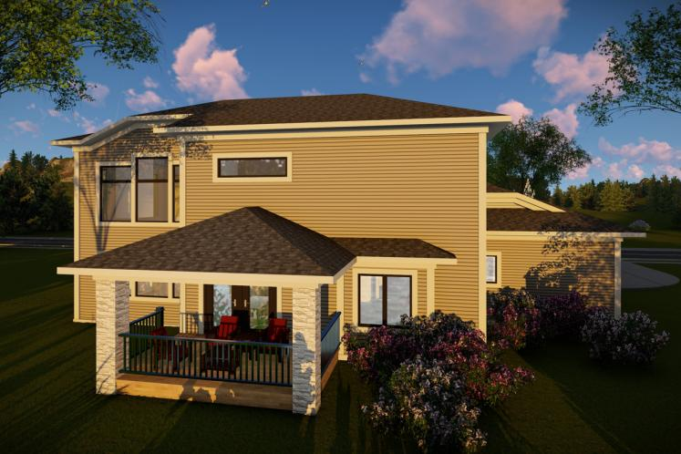 Modern House Plan -  71880 - Rear Exterior