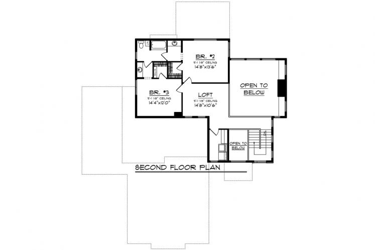 Modern House Plan -  71880 - 2nd Floor Plan