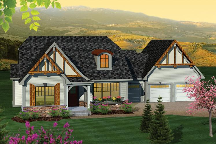 European House Plan -  71918 - Front Exterior