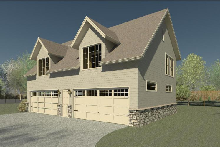 Traditional Garage Plan -  71922 - Front Exterior