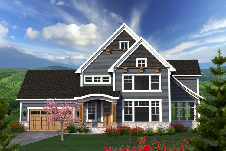 Traditional House Plan -  71932 - Front Exterior