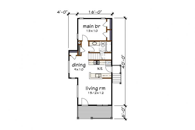 Country House Plan -  71944 - 1st Floor Plan
