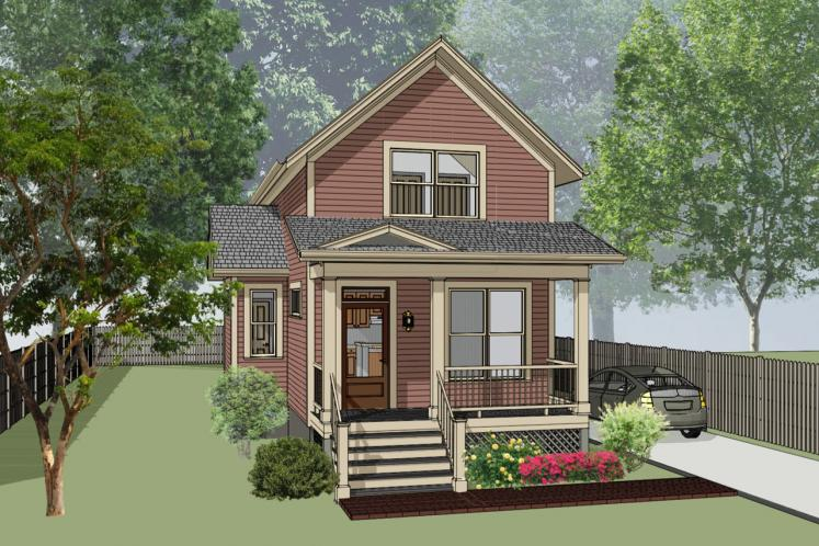 Country House Plan -  71944 - Front Exterior