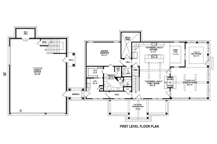 Lodge Style House Plan -  71993
