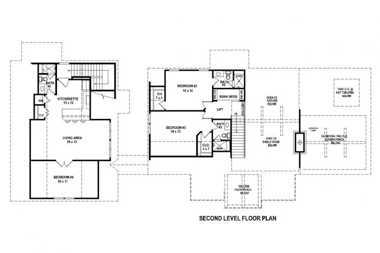 Ranch House Plan -  71993 - 2nd Floor Plan