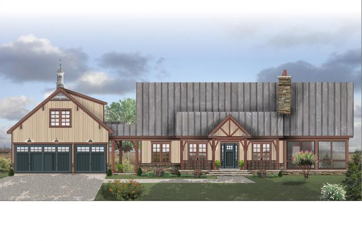 Craftsman House Plan -  71993 - Front Exterior