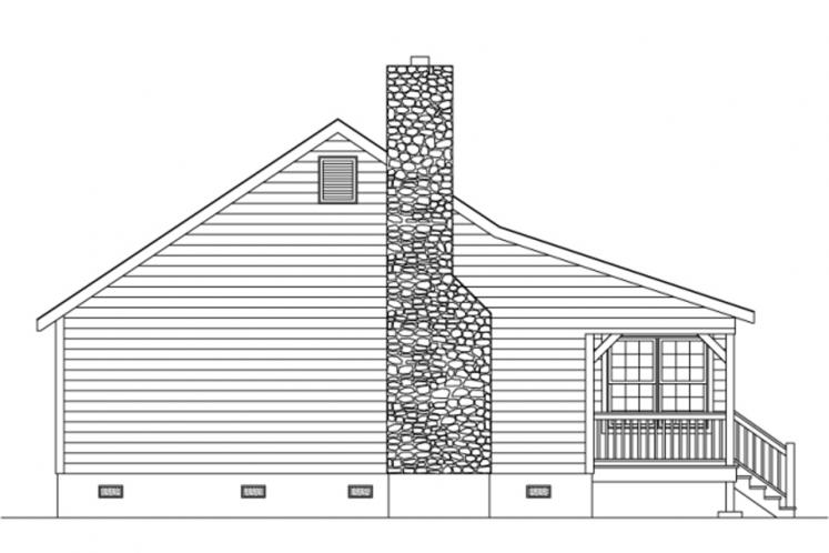 Traditional House Plan -  71994 - Left Exterior