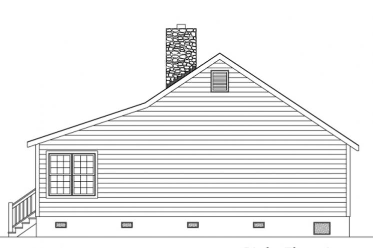 Cottage House Plan -  71994 - Right Exterior