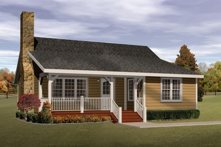 Traditional House Plan -  71994 - Front Exterior