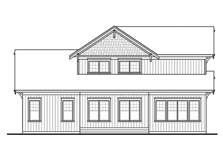 Country House Plan - Anniston 2 72007 - Rear Exterior