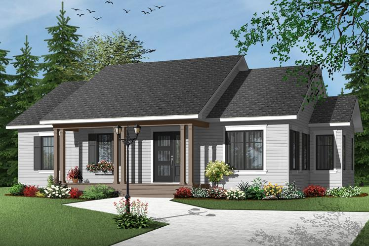 Country House Plan - Corbett 2 72059 - Front Exterior