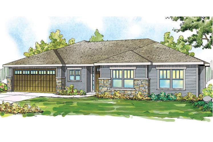 Country House Plan - Lake Creek 72105 - Front Exterior