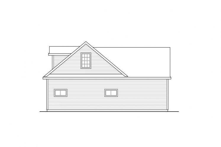 Traditional Garage Plan -  72187 - Right Exterior
