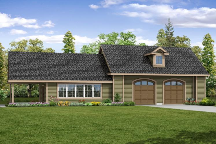 Country Garage Plan -  72187 - Front Exterior