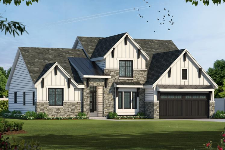 Farmhouse House Plan - Hannan 72203 - Front Exterior
