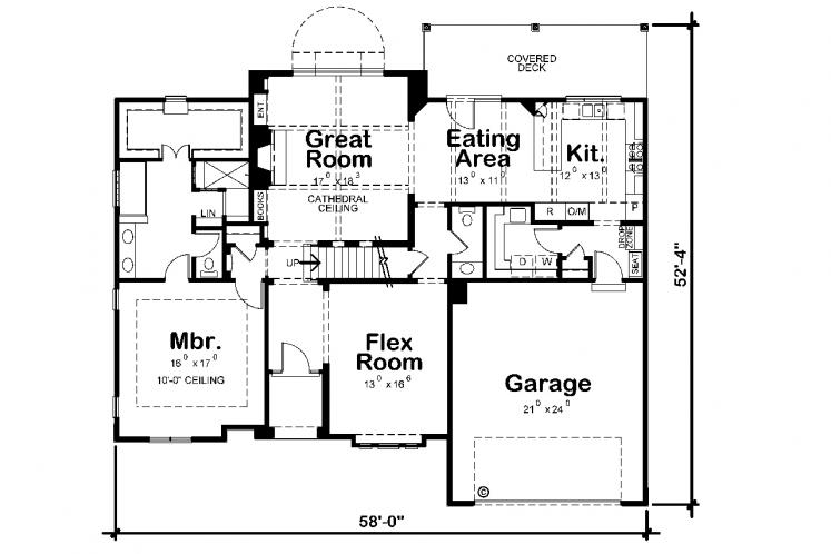 Modern House Plan - Hannan 72203 - 1st Floor Plan