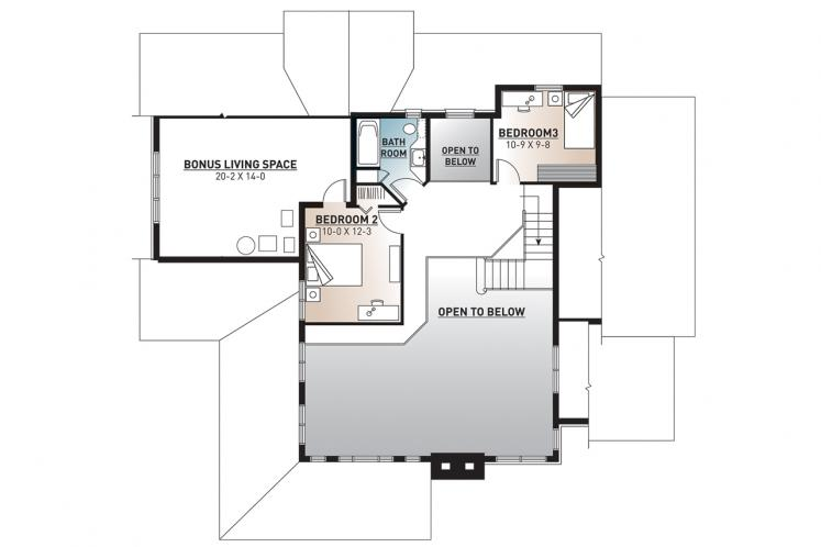 Traditional House Plan - Wakefield 2 72231 - 2nd Floor Plan